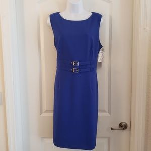 Calvin Klein Sheath Dress Royal Blue